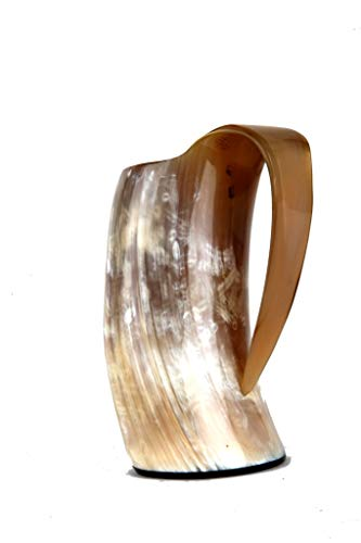 Viking Bar Mug Real Horn Handmade From Natural Material Size: 6 Inches (Approximately) Viking Bar Mug Real Horn Handmade From Natural Material Viking Drinking Horn Ale Tankard Viking Drinking Horn Cup