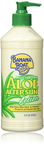 Banana Boat After Sun Lotion Aloe, 16 Fl Oz. (Pack of 2) (Banana Boat Moisturizing Aloe After Sun Lotion)
