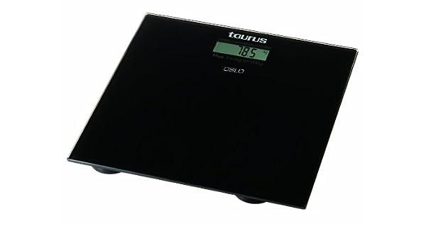 Taurus Oslo, digital, Negro, 300 x 300 x 30 mm, CR2032 - Báscula de cocina: Amazon.es: Hogar