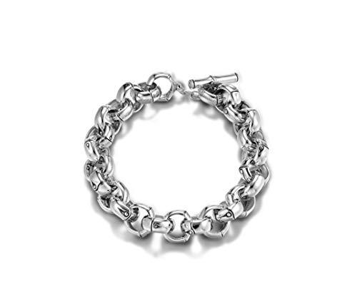 (John Hardy Bamboo silver small link 13mm bracelet. Size: Medium - BB5726XM )