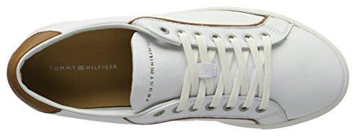 Tommy Hilfiger M2285ount 4a1, Zapatillas para Hombre Blanco (White 100)