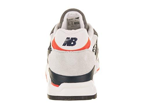 New Balance Hommes 998 Classiques Chaussures De Course Gris / Orange / Blanc