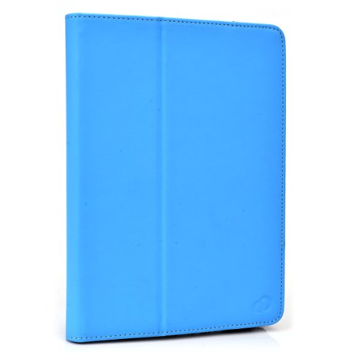 """Icarus Illumina HD Case Stand Folio Protective Cover with Soft Grip Clips - Universal Style fits Most 8"""" Devices   Azurean Blue"""