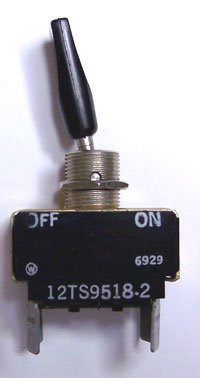 Micro Switch 12TS9518-2 DPST On-Off Toggle Flat Plastic Handle