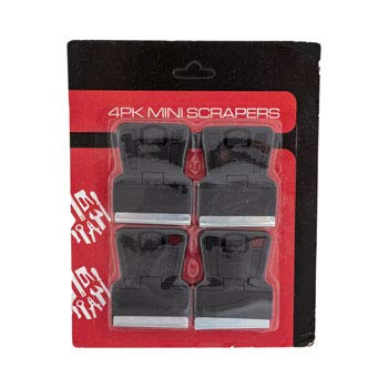 Scrapers Mini 4 Pack Standard Blade Hardware Blister Card, Case of 36 by DollarItemDirect