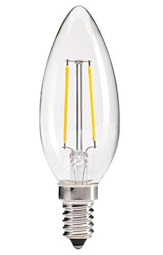 Goodlite G-83507 2.5-Watt LED Candelabra Torpedo Light Bulb 200 Lumens 25-Watt Equivalent, Warm White 3000K Dimmable, UL listed