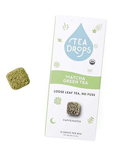 Tea Drops - Premium Matcha Green Tea - Instant Organic Tea | 10 Drops Of Our Best Selling Handcrafted Instant Tea | Perfect For Green Tea Matcha Lattes | Makes A Great Tea Gift For Tea Lovers