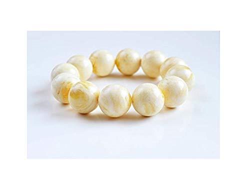 Genuine Amber Bracelet Natural Pure Colour Amber Beads Handmade Elastic Bracelet