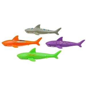 Diving Toy Pool Glide Shark Throw Torpedo Underwater, Pool Shark 4 pieces/piece