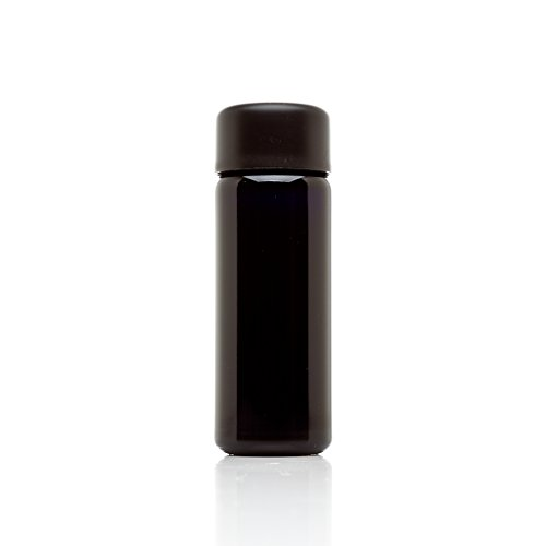 Infinity Jars 100ml (3.4 fl oz) Black Ultraviolet Glass Slow Pour - Round Facial Hair Styles Face