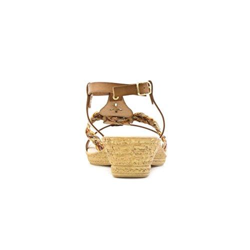Softlites Laser Wedge Cut Brown Sandal Womens Tan qqxBErw1C