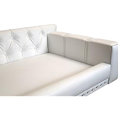 Canapé Pour Chien Luxe Texas Cuir Synthétique Blanc Xxl Lit