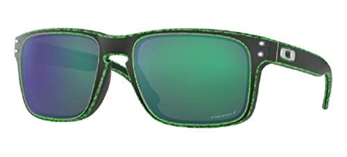 Oakley Holbrook OO9102 9102I6 55M Raceworn Green/Prizm Jade Polarized Sunglasses For Men+ BUNDLE with Oakley Accessory Leash ()