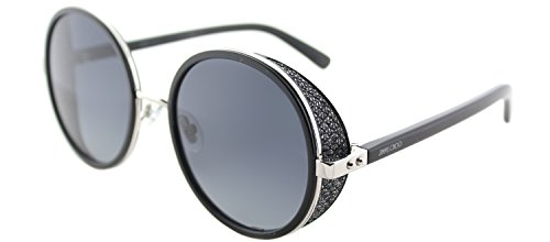 Jimmy Choo Women's Andie/N/S Palladium/Black/Gray Gradient Lens One - Jimmy Blue Sunglasses Choo