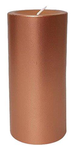Stearinos Candles STE68/14087Stearin Palm Wax Pillar Candle, Copper, 14x (Palm Pillar Candle)