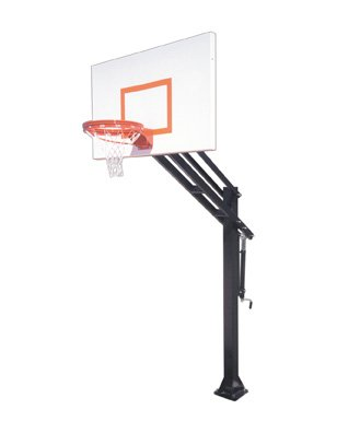 First Team Force Endura steel-aluminum in ground調整可能バスケットボールsystem44、ゴールド B01HC0CZTE