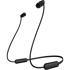Sony WI-C200 Wireless Headphones with 15 Hrs Battery Life, Quick Charge, Magnetic Earbuds for Tangle Free Carrying, BT…