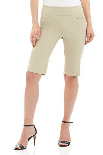 Rekucci Women's Ease in to Comfort Fit Pull-On Modern City Shorts (Canada Fit Shorts)