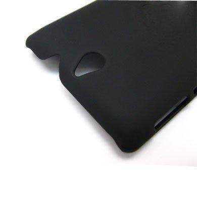 wholesale dealer 4e448 92189 ImagineDesign Rubberised Hard Case For SONY Xperia E C1504 / E Dual C1604  (Pitch Black)