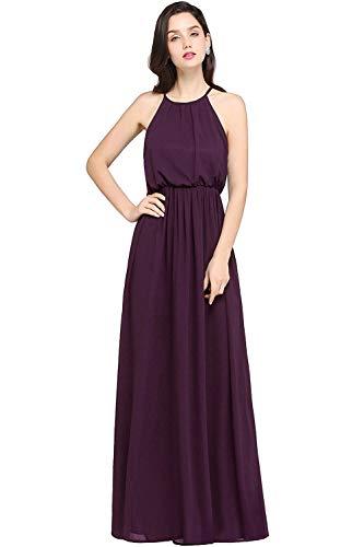 ba8c4416d Mujeres Vestido Violett Hombro Las Halter Largo Noche Marca Mode Festivo  Honor 2019 Moda Sin Fiesta Vestidos Dama De La Mangas Del Elegantes n18Z0