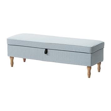 Ikea Banc Avec Rangement Remvallen Bleublanc Marron Clairbois
