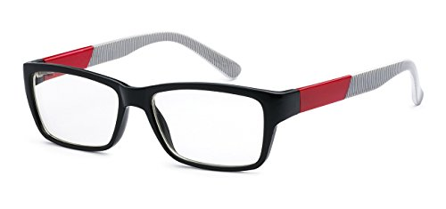 5zero1 Nerd Glasses Men Women Retro 80's Classic Fashion Party Fake Eyeglasses (Red and - Glasses Whole Sale