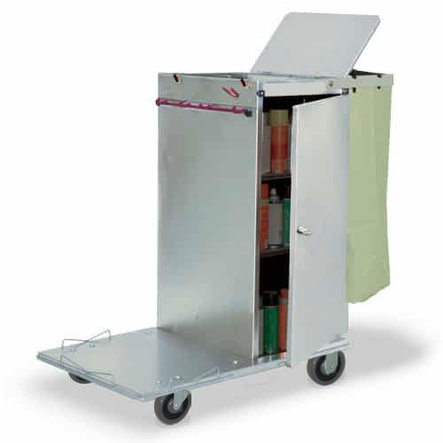 Janitor Microfiber Cart (Royce Rolls Stainless Steel Standard Non-Folding Janitor Housekeeping Cleaning Cart - #C36)