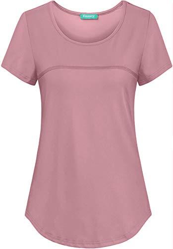 Kimmery Women's UPF 50+ Sun Protection Short Sleeve Back Pocket Workout T-Shirt