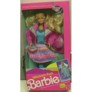 Western Fun Barbie - #9932 - Mattel