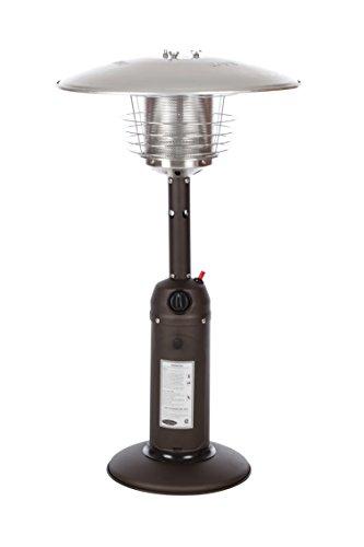 Fire Sense Rich-Mocha Table-Top Patio Heater Propane by Fire Sense