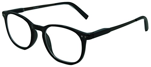 (In Style Eyes Wall Street II, Stylish Classic Look Spring Hinged Reading Glasses Black)