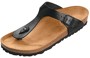 Womens Birkenstock Gizeh Black Glossy Leather Sandal (Thong style sandal with ultimate shock absorption ) 38 N