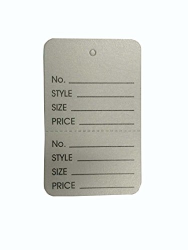 "1-1/4""×1-7/8"" Clothing Price Labels/clothing Tag/perforated Price Coupon Tags, Silver Two Part"