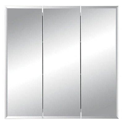 View Medicine Horizon Tri Cabinet - Horizon Tri View Recessed Cabinet with Beveled Mirror Width: 24