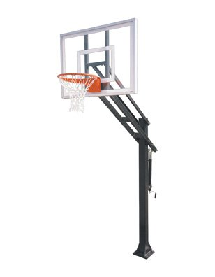 First Team Force III steel-acrylic in ground調整可能バスケットボールsystem44、スカーレット B01HC0DTG2