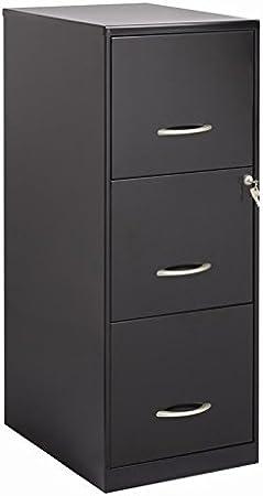 Scranton /& Co 18 Deep 3 Drawer Vertical File Cabinet in Pearl White