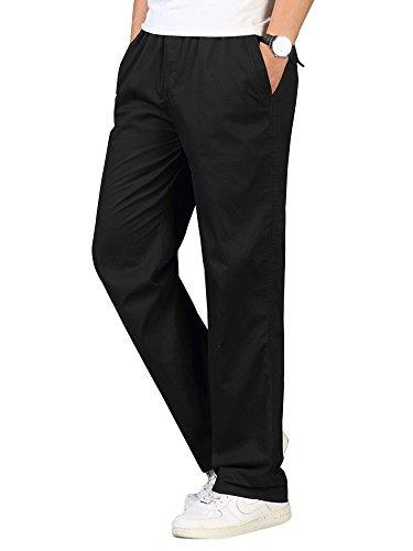 - Men's Full Elastic Waist Lightweight Workwear Pull On Cargo Pants #04 Black Tag 6XL - US 44