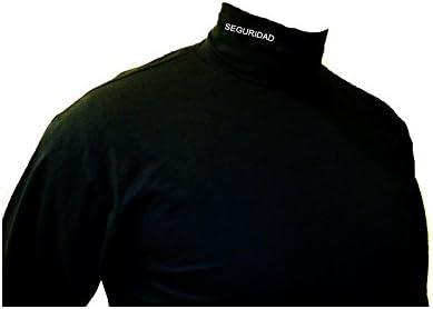 Piel Cabrera Camiseta Cuello Cisne Seguridad (M): Amazon.es ...