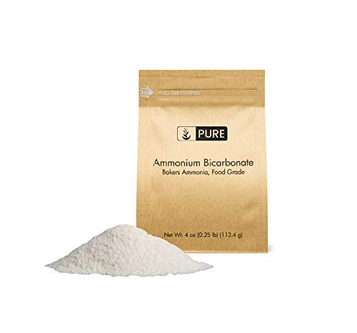 Ammonium Bicarbonate (4 oz.) by Pure Organic Ingredients, Traditional Leavening Agent Used in Flat Baked Goods Such as Cookies or Crackers