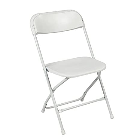 Fantastic Ontario Furniture Stackable White Metal Folding Chair 800 Pound Weight Capacity Premium Steel Frame With Plastic Seat And Back Ocoug Best Dining Table And Chair Ideas Images Ocougorg