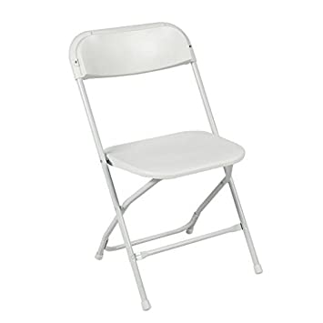 Ontario Furniture: Silla Plegable de Metal Blanco apilable ...