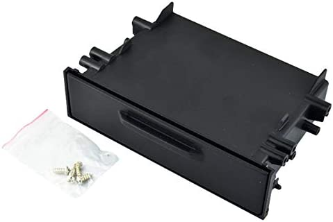 Universal Car Auto Single Din Radio Pocket Kit Instalación Instalación Dash 1 Caja de almacenamiento Coche para ...