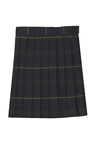 Skirts Green Girls Plaid (French Toast Big Girls' Plaid Pleated Skirt, Green, 8)