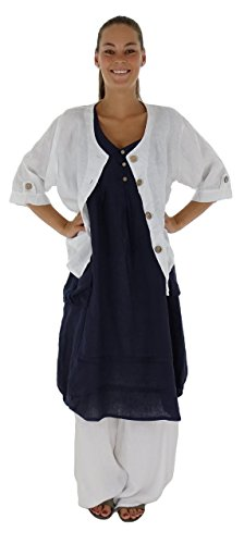HF500 Damen Mein Mallorca Kleid Blau Lagenlook de Longtunika Design A11nYwT