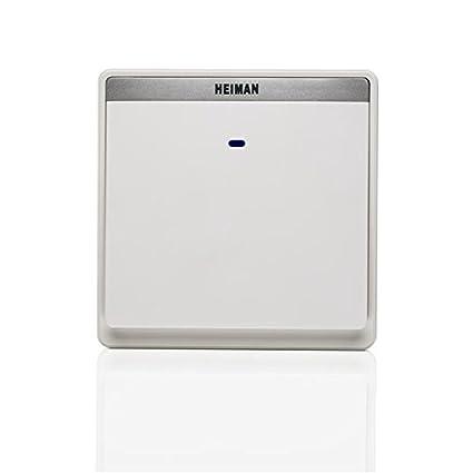 heiman SmartHome – Pulsador de pared (hs2sw1 a de N de EU) Interruptor emisor