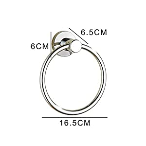 BGL Towel Ring Contemporary Style Stainless Steel 304 Chrome Bathroom Accessories (Towel Ring)