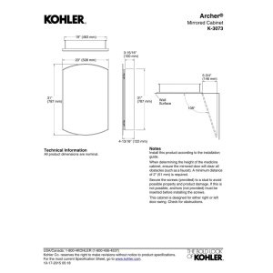 KOHLER K-3073-NA Archer Mirrored Cabinet by Kohler (Image #3)