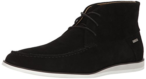 Calvin Klein Men's Kenley Calf Suede Slip-On Loafer, Black, 10 M US (Calvin Klein Black Suede Loafers)