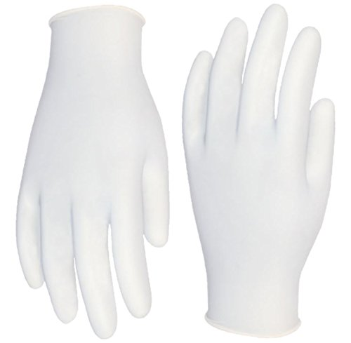 Cordova Safety Products 4015M Silver Industrial Grade Latex Powder Free Disposable Gloves, Medium by Cordova Safety Products