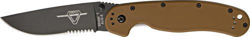 Ontario 8847CB Brown Folding Knife Black Finish Rat 1. 5'', Folder Linerlock for Camping Hiking Hunting Survival Self Defence and practical use + EBOOK